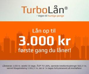 Turbolån >> Vejen til hurtige penge >> lån 3.000 kr. første gang