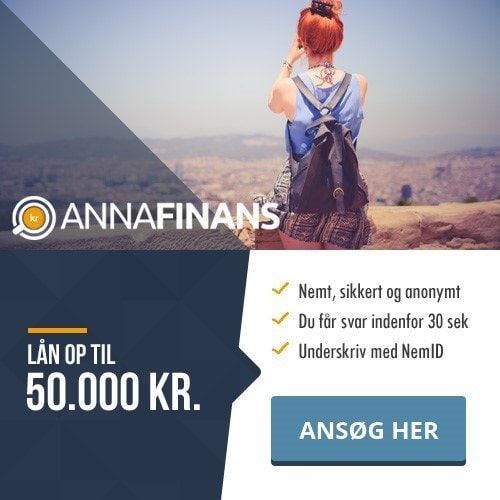 Anna Finans >> Lån 50.000 kr. >> Svar med det samme