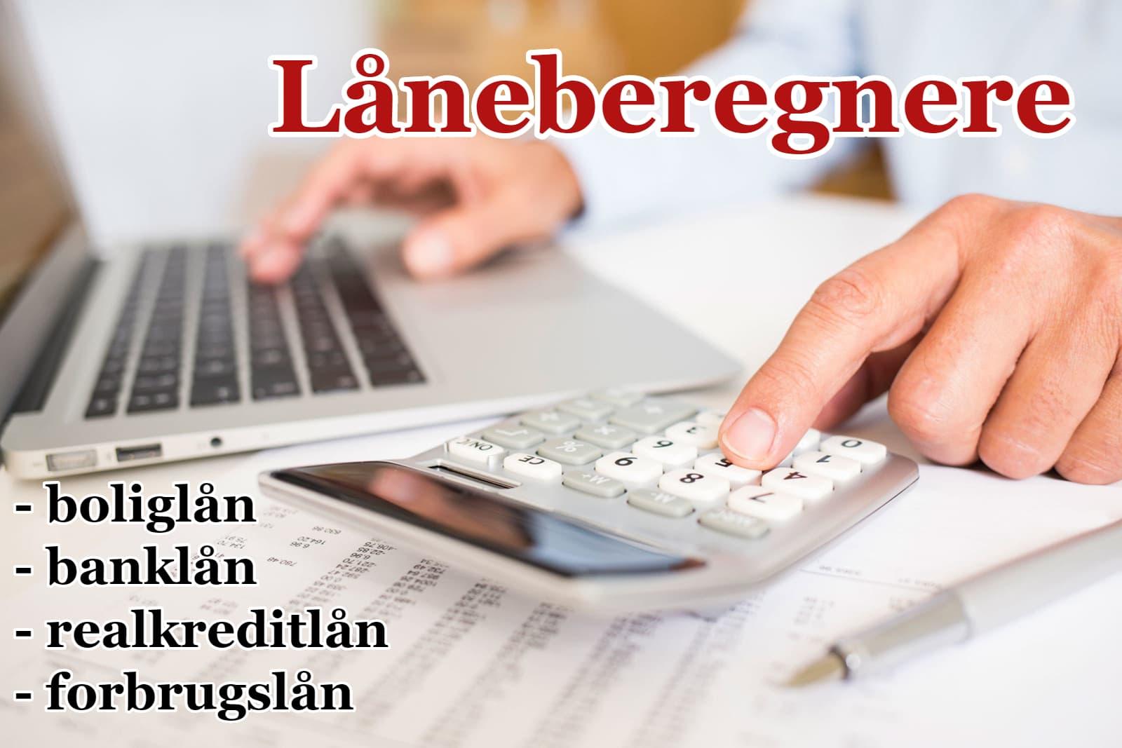 Hos Lånekassen finder du låneberegnere til beregning af alle typer af lån.