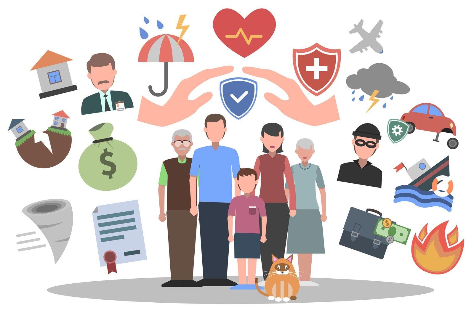 Læs her om de forskellige forsikringer der kan være relevante for dig.