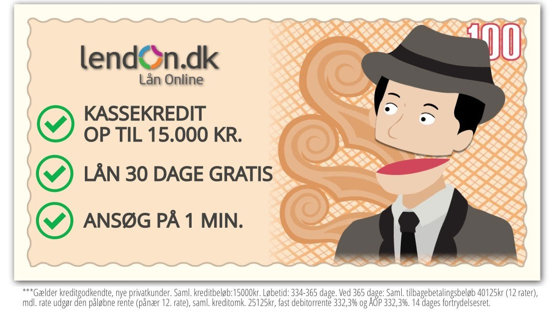 Hos Lendon kan du låne 6.000 kr. gratis