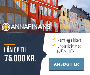 Anna Finans >> Lån 75.000 kr. >> Nemt, sikkert og anonymt