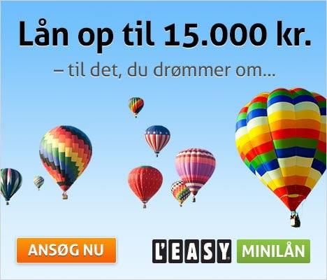 L'EASY minilån >> Lån mellem 5.000 og 15.000 kr.