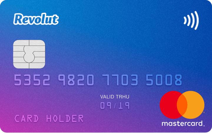 Med Revolut kan du få et MasterCard