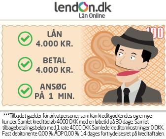 Få 15.000 kr. i kredit hos Lendon